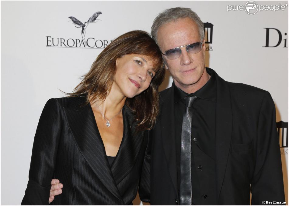 Sophie Marceau et Christophe Lambert lors de la soirée d'inauguration de la Cité du Cinéma à Saint Denis, en France, le 21 septembre 2012