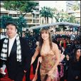 Dominique Besnehard et Sophie Marceau durant le Festival de Cannes 1995