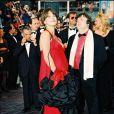 Dominique Besnehard et Sophie Marceau durant le Festival du film de Cannes 1995