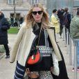 Dree Hemingway arrive au Grand Palais pour assister au défilé Chloé. Paris, le 2 mars 2014.