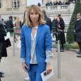 Alexandra Golovanoffarrive au Grand Palais pour assister au défilé Chloé. Paris, le 2 mars 2014.