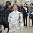 Miroslava Dumaarrive au Grand Palais pour assister au défilé Chloé. Paris, le 2 mars 2014.