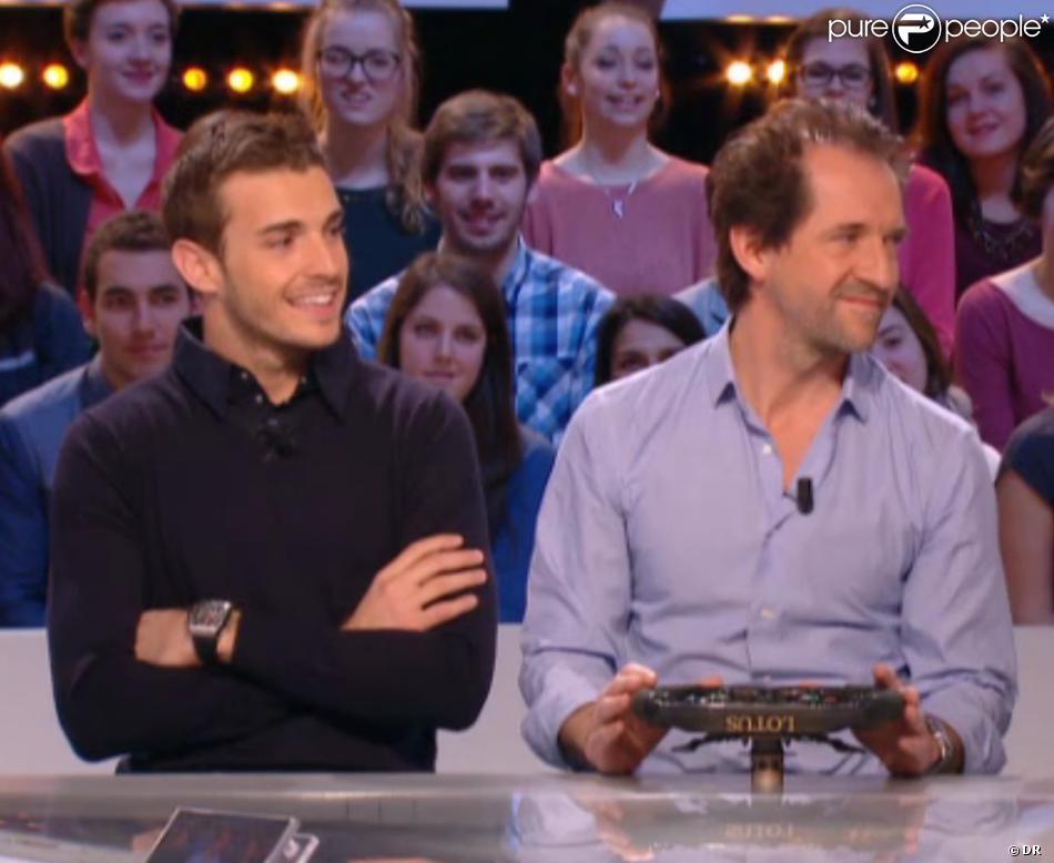 Jules Bianchi avait encore sa montre lorsqu'il est passé sur le plateau du Grand Journal de Canal+, le 5 mars 2014.