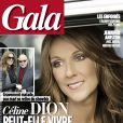 Couverture du magazine Gala avec l'interview de Céline Dion.