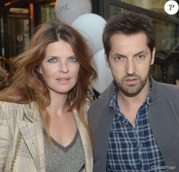 Frédéric Diefenthal et sa femme Gwendoline Hamon à Paris, le 25 juin 2013.