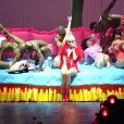 """Miley Cyrus en concert au """"MGM Grand Arena"""" à Las Vegas, le 1er mars 2014."""