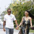 Lewis Hamilton et sa girlfriend Nicole Scherzinger à Kuala Lumpur, Malaisie, le 24 mars 2013.