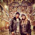 Lewis Hamilton et Nicole Scherzinger dans la chapelle Sixtine en février 2014.