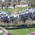 Vue aérienne de la maison de Tom Brady et de Gisele Bundchen à Los Angeles.
