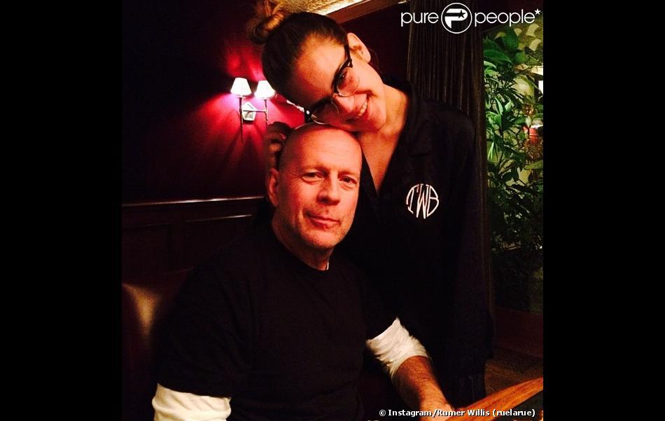 Photo du compte Instagram de Rumer Willis : elle a fêté l'anniversaire de son père Bruce Willis le 19 mars 2014