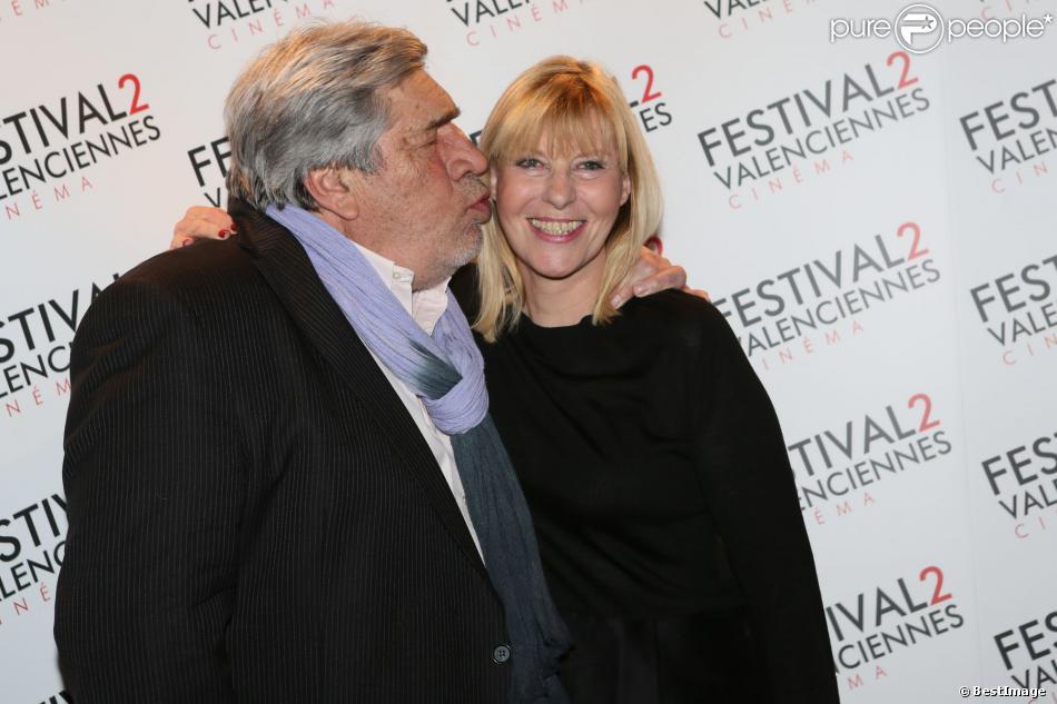 Jean-Pierre Castaldi, Chantal Ladesou lors du photocall de la cérémonie de clôture du Festival 2 cinéma de Valenciennes au Gaumont Valenciennes le 22 mars 2014