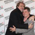 Gustave Kervern, Pierre Salvadori lors du photocall de la cérémonie de clôture du Festival 2 cinéma de Valenciennes au Gaumont Valenciennes le 22 mars 2014