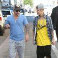 Justin Bieber avec son père Jeremy Bieber à Miami, le 22 janvier 2014.