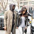 Kanye West et Kim Kardashian à New York, le 25 mars 2014.