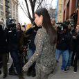Kim Kardashian quitte l'appartement de Kanye West à New York, le 25 mars 2014.