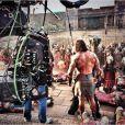 Dwayne Johnson sur le tournage du film Hercule.