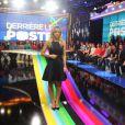 L'animatrice télé Enora Malagré, le vendredi 7 mars à Boulogne-Billancourt, sur le tournage de Derrière le poste, nouveau prime time prochainement diffusé sur D8.