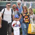 LeAnn Rimes et Eddie Cibrian ont assisté au match de baseball de leur fils Jake à Los Angeles. Le 13 avril 2013.