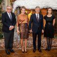 Laurent, Mathilde, Philippe et Claire de Belgique lors du concert de Noël au palais le 11 décembre 2013
