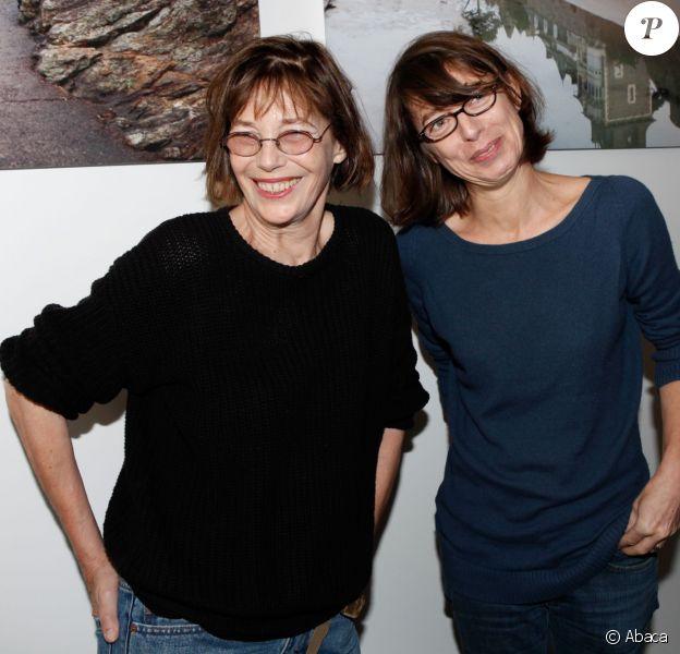 Kate Barry avec sa mère Jane Birkin à Dinard le 5 octobre 2012