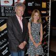 Nelson Monfort et sa fille Victoria lors de la 33e édition du prix Romy Schneider et Patrick Dewaere à l'hôtel Scribe à Paris le 7 avril 2014.