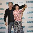 """Franck Dubosc et Florence Foresti lors de l'avant-première du film """"Barbecue"""" au cinéma Gaumont Opéra à Paris, le 7 avril 2014."""