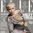 Miley Cyrus en couverture du magazine Elle USA daté de mai 2014.