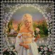 Portrait de Zahia Dehar en Marie-Antoinette, à l'occasion de la carte blanche accordée à Pierre et Gilles pour la rétrospective consacrée à l'âge d'or de la Manufacture des Gobelins au siècle des Lumières, à Paris, le 7 avril 2014.