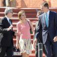 Le prince Felipe et le princesse Letizia d'Espagne célébraient le 7 avril 2014 à l'Hospitalet de Llobregat le centenaire de la société Puig et inauguraient son nouveau siège social, la Tour Puig.