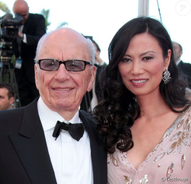 Rupert Murdoch et Wendi Murdoch à Cannes le 16 mai 2011.