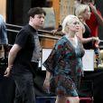 Mike Myers et sa femme Kelly, enceinte de leur premier enfant, en août 2011. Après la naissance de Spike, le couple a eu une petite fille, Sunday, le 11 avril 2014