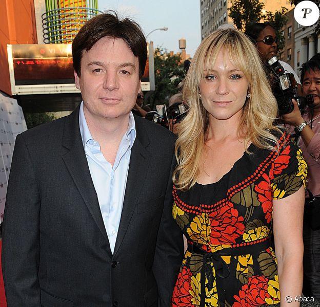 Mike Myers et son épouse Kelly lors de la projection d'Inglourious Basterds le 17 août 2009 à New York. Le couple a eu son second enfant, une petite Sunday, le 11 avril 2014.