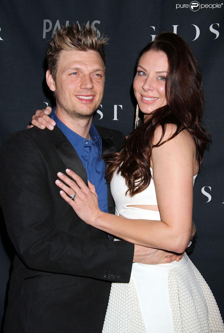 Nick Carter et Lauren Kitt à la soirée Coed Bachelor & Bachelorette au Ghostbar à Las Vegas le 8 février 2014