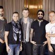 Kevin Richardson, Howie Dorough, Nick Carter, AJ McLean et Brian Littrell : les Backstreet Boys en promo pour leur album  In A World Like This  à Madrid en novembre 2013