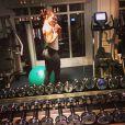 Lauren Kitt s'est préparée à fond pour son mariage avec Nick Carter des Backstreet Boys le 12 avril 2014 à Santa Barbara, comme en témoigne cette photo du mois précédent.