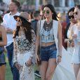 Kendall Jenner, Selena Gomez lors du 1er jour du Festival de Coachella à Indio, le 11 avril 2014.