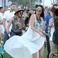 Kylie Jenner et Kendall Jenner lors du 1er jour du Festival de Coachella à Indio, le 11 avril 2014.