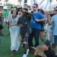 Kendall et Kylie Jenner lors du 1er jour du Festival de Coachella à Indio, le 11 avril 2014.