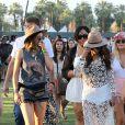 Kylie Jenner et Selena Gomez lors du 1er jour du Festival de Coachella à Indio, le 11 avril 2014.