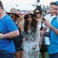 Selena Gomez et un groupe d'amis lors du 1er jour du Festival de Coachella à Indio, le 11 avril 2014.