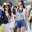 Selena Gomez et Kendall Jenner lors du 1er jour du Festival de Coachella à Indio, le 11 avril 2014.