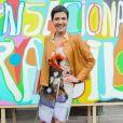 """Cristina Cordula lors de l'inauguration du Grand Carnaval brésilien """"Sensacional Brasil"""" au Jardin d'Acclimatation à Paris, le 12 avril 2014."""