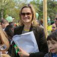 """Guilaine Chenu lors de l'inauguration du Grand Carnaval brésilien """"Sensacional Brasil"""" au Jardin d'Acclimatation à Paris, le 12 avril 2014."""