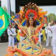 """Inauguration du Grand Carnaval brésilien """"Sensacional Brasil"""" au Jardin d'Acclimatation à Paris, le 12 avril 2014."""