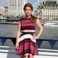 Coleen Rooney présente sa collection de maillots de bain SS14 pour Littlewoods à Londres, le 9 avril 2014 au Westminster Millenium Pier