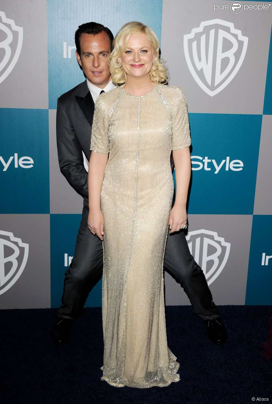 """Will Arnett et Amy Poehler lors de la soirée """"WB/Instyle"""" Post Golden Globe au Beverly Hilton de Los Angeles, le 15 janvier 2012"""