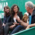 Noura, la petite-amie de Jo-Wilfried Tsonga, lors des Rolex Masters de Tennis à Monte-Carlo à Monaco, le 18 avril 2014.