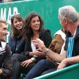 Noura, la petite-amie de Jo-Wilfried Tsonga, le regarde jouer lors du Monte-Carlo Rolex Masters de Tennis à Monte-Carlo à Monaco, le 18 avril 2014.