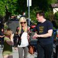 """Tori Spelling sur le tournage de son émission de télé réalité """"True Tori"""" à Studio City. Le 3 avril 2014."""