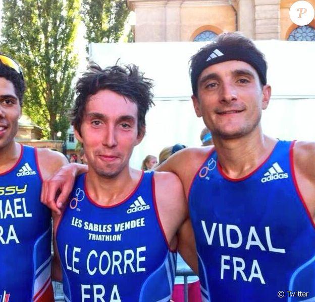 Le triathlète français Laurent Vidal